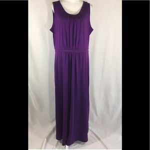 Lands' End Size XL (18) Scoop Neck Stretch Purple